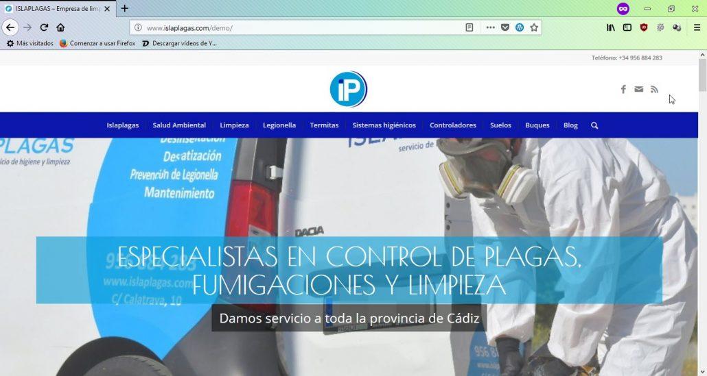 nueva página web de ISLAPLAGAS 1