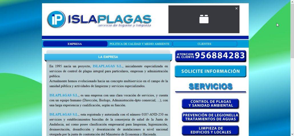 nueva página web de ISLAPLAGAS 4